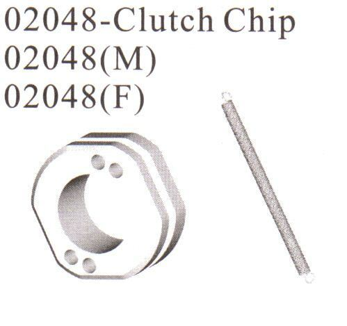 02048: Clutch Shoe Clip And Spring Set.