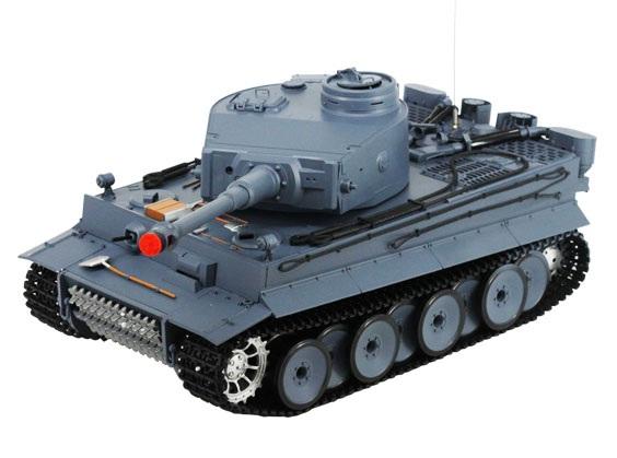 RC German Tiger Tank, Smoking, Airsoft BBs 3818-1
