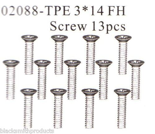 02088 3x14mm FH Screw Self Taping x13 HSP Himoto
