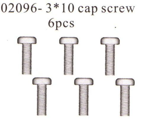 02096 3x10mm Screws-HSP Himoto
