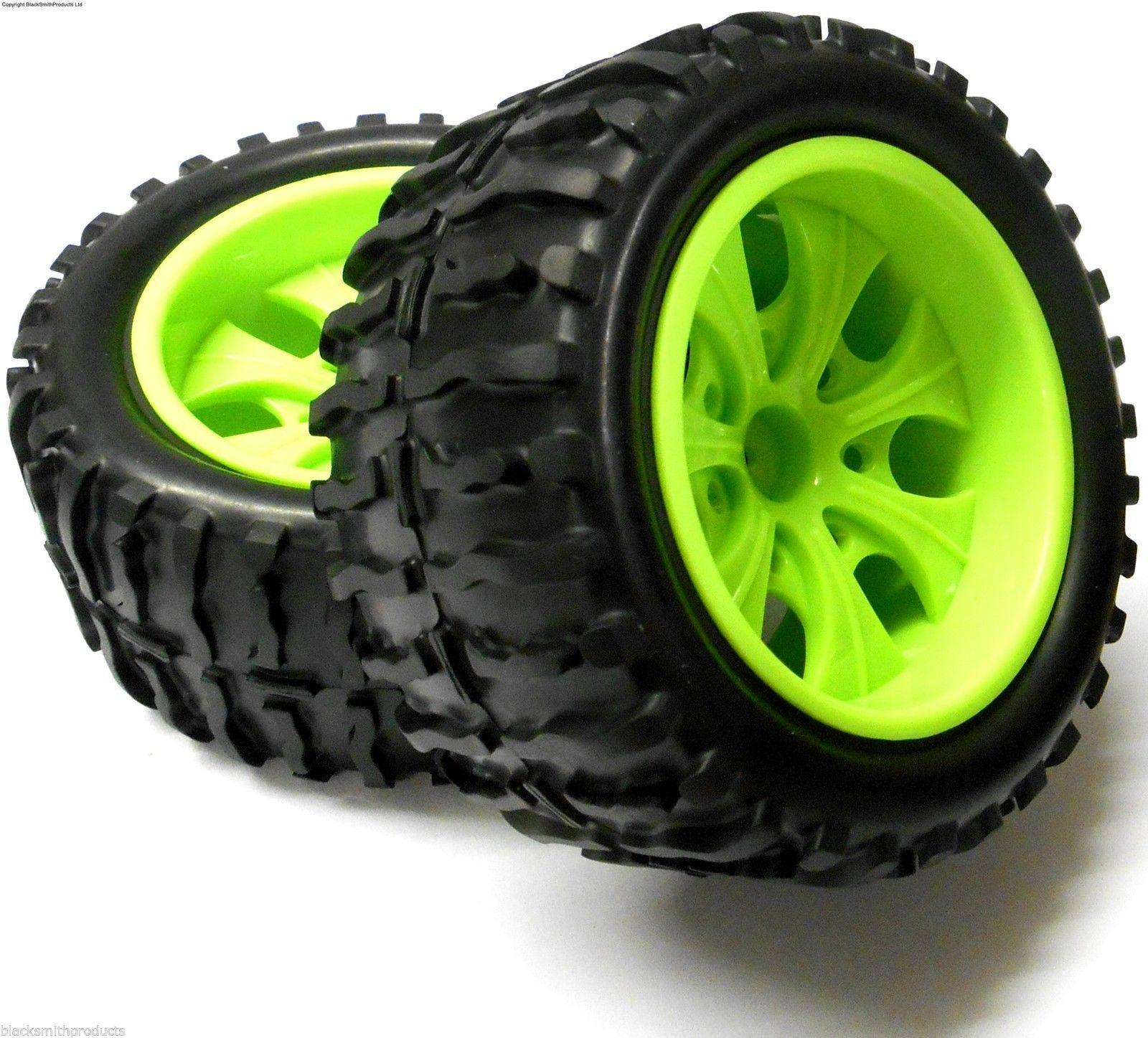 08010 Himoto 1 10 Monster Truck Tires Wheels Green