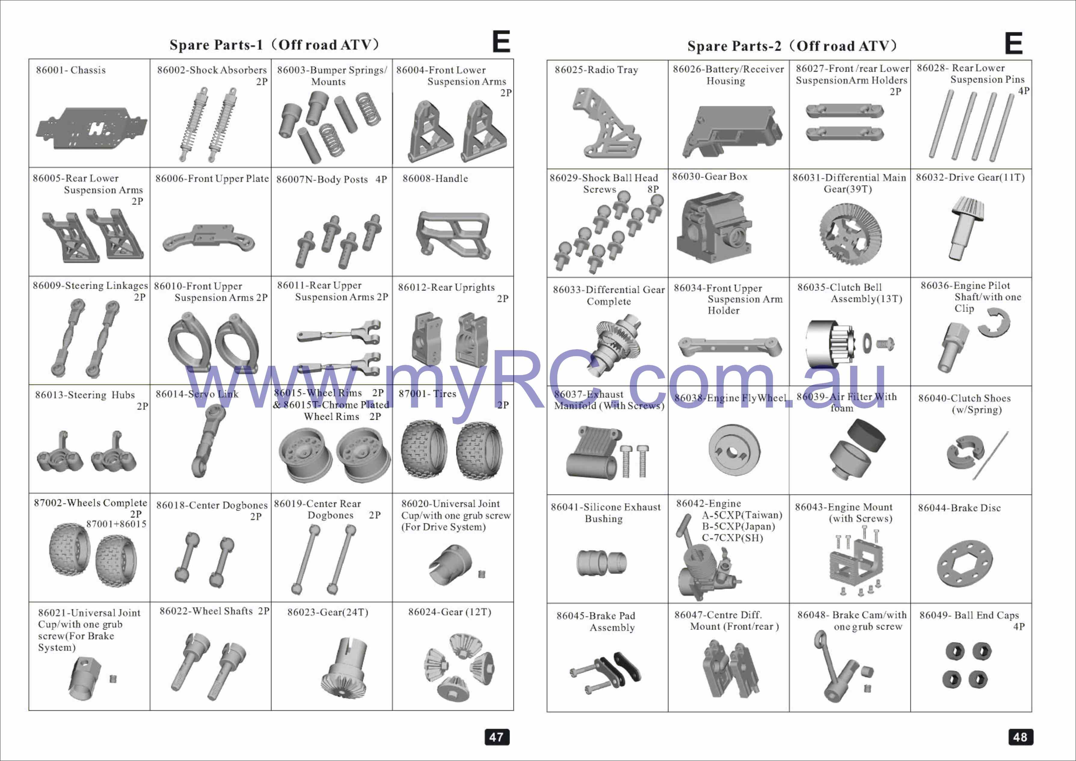 Himoto Nitro 1 16 Parts List