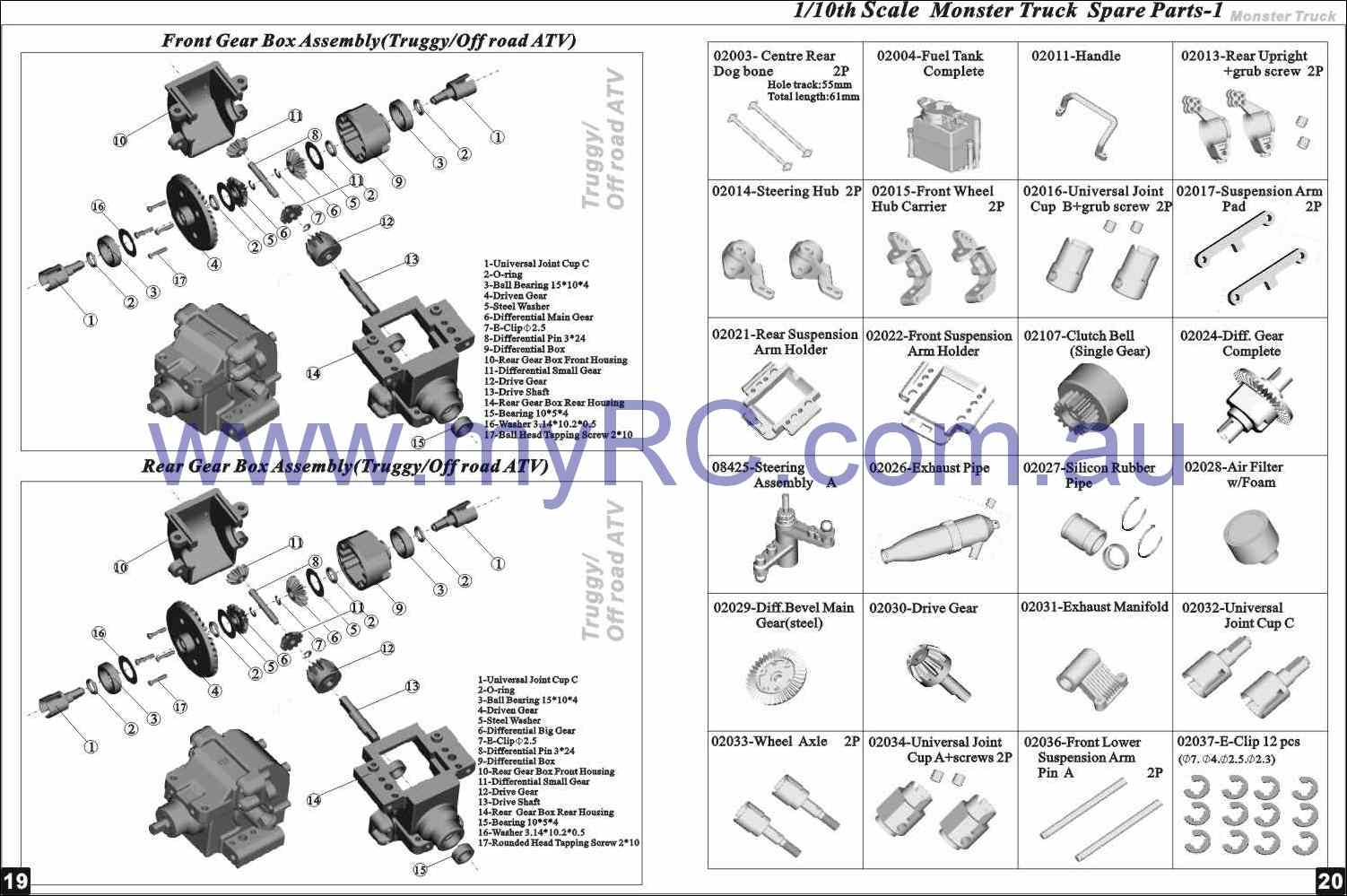 rc car parts diagram