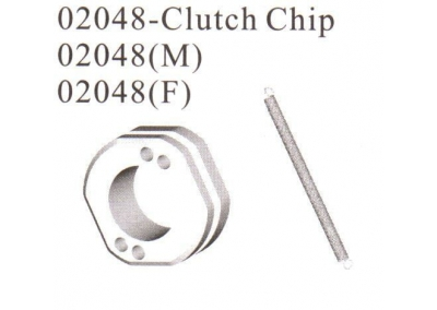 02048 Clutch Shoe Clip Set with Spring Behemoth HSP Himoto 1/10