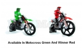HIMOTO RC 1:4 Scale Motocross MotorBike 2.4ghz (Green)