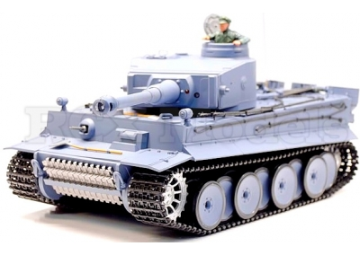 RC Tiger I Tank Heng Long 1/16 Firing