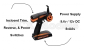 2.4GHZ Transmitter & Receiver TX RX Combo Pistol Grip Radio System