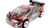 Himoto 1/16 RC Mini Touring Car (Road Warrior Carbon Red)