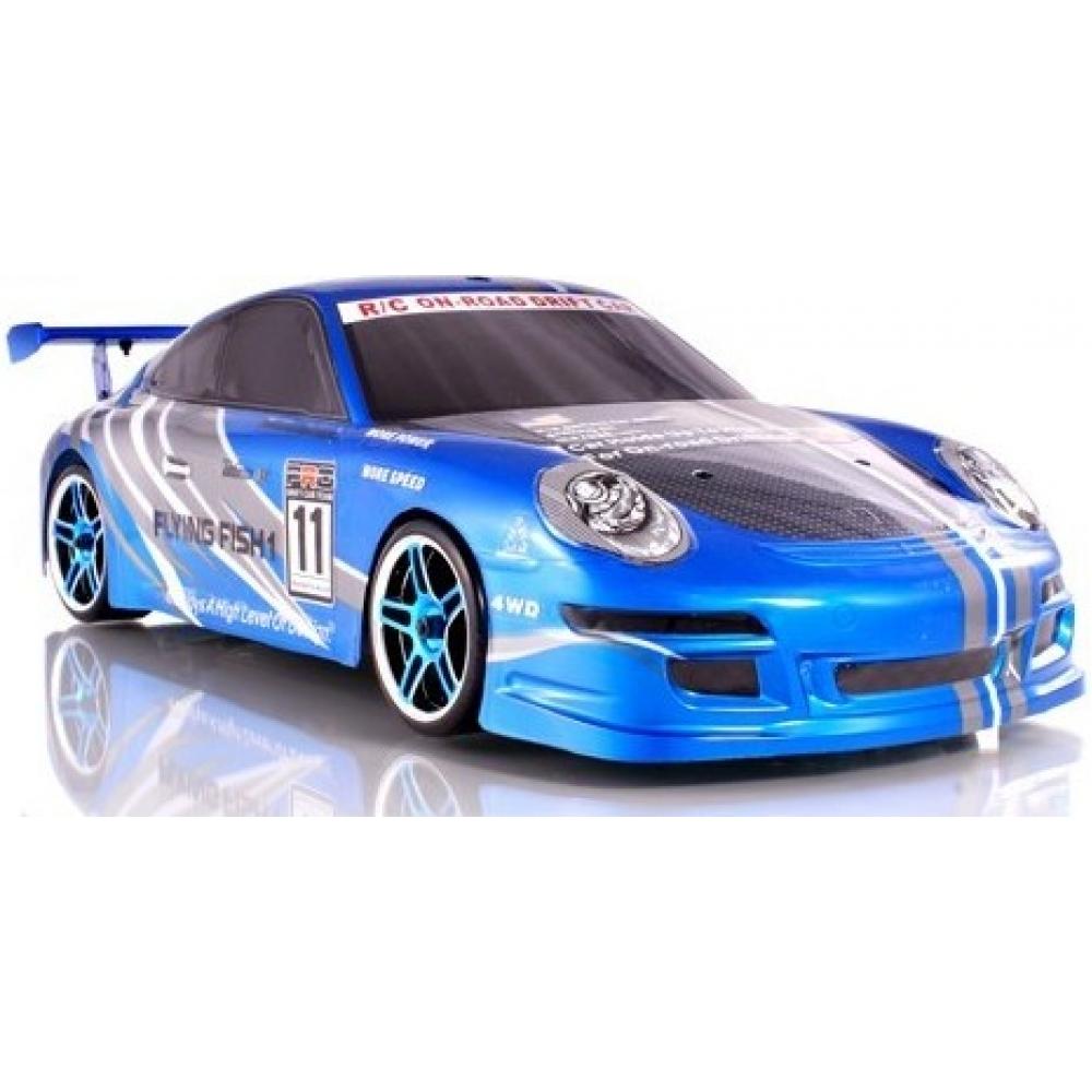 rc drift car 1 10 porsche on road electric rtr 4x4 blue. Black Bedroom Furniture Sets. Home Design Ideas