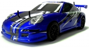 Porsche Nitro RC Race Car 1/10 RTR 4WD 60mph Blue