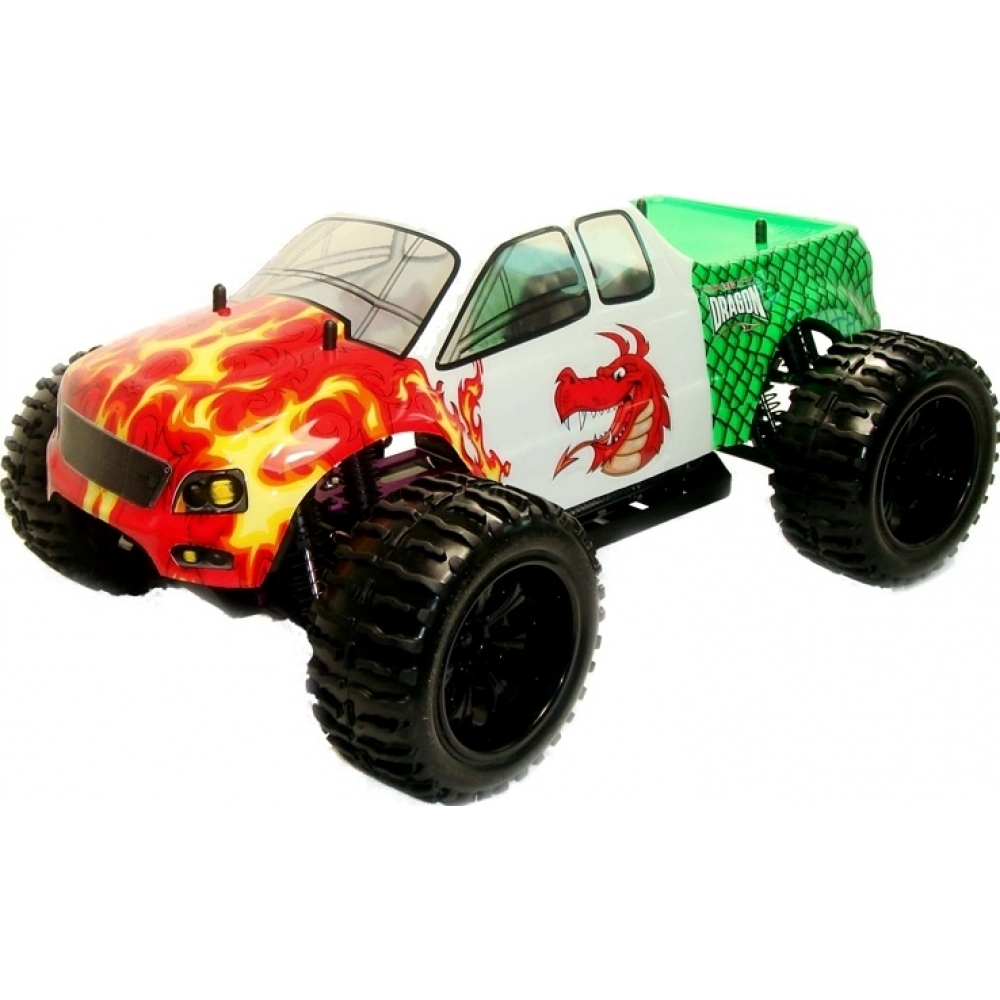 1 10 Electric Rc Monster Truck Red Dragon