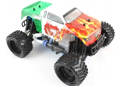 Himoto 1/16 RC Nitro Monster Truck (Red Dragon)
