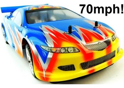 Nitro RC Car Mazda RX 1/10 4x4 70mph (2 Speed)