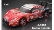 Himoto Nitro RC Car 2 Speed 4x4 Nissan GT-R