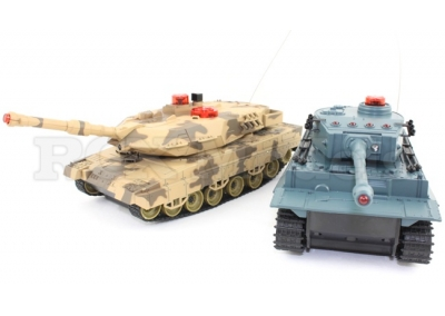 RC Infra Red Battle Tanks Tiger vs T-90