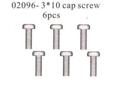 02096 Cap Screw x6 HSP Himoto