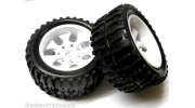 08010 Himoto 1/10 Monster Truck Tires/Wheels