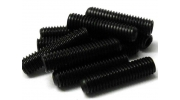 M4 x 10mm Black Grub Screws 2mm Hex Head