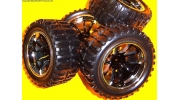 A890011  1/10 RC Monster Truck Wheels + Tyres