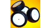 1/10 RC Buggy Wheels 4x Disc White