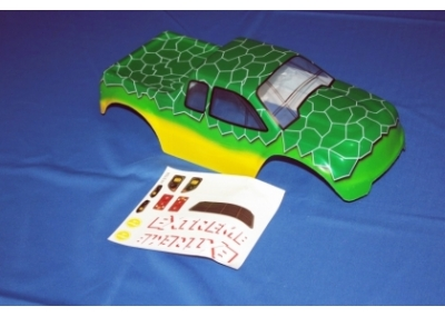 1/10 Scale Monster Truck Spare Body Shell - Extreme Green